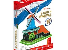 Cubic Fun Пъзел 3D Dutch Windmill (Netherlands) Вятърна Мелница 71ч. MC219h